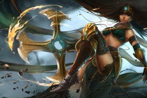 fantasy girl pc gaming sivir fantasy art league of legends