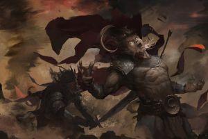 fantasy men battle fantasy art
