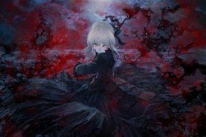 fate series saber alter dark anime girls saber type-moon anime