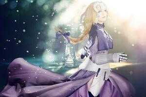 fate series saber purple chess lights