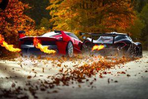 ferrari fxxk ferrari fxx-k mclaren p1 black cars ferrari race cars fire ferrari fxx car vehicle leaves supercars
