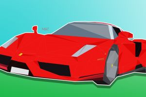 ferrari low poly enzo ferrari poly
