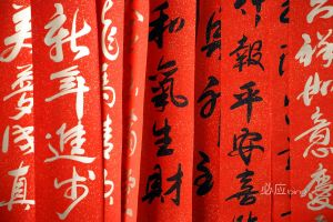 festivals red new year calligraphy