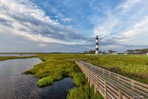 field landscape north carolina lighthouse