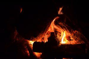 fire wood orange campfire