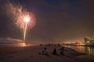 fireworks beach florida independence day jacksonville