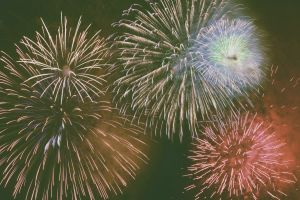 fireworks sky night
