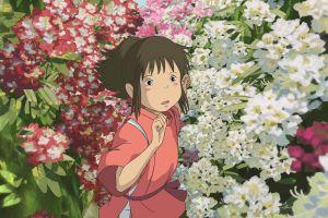 flowers anime spirted away chihiro anime girls studio ghibli