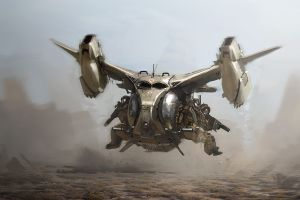 flying artwork digital art futuristic