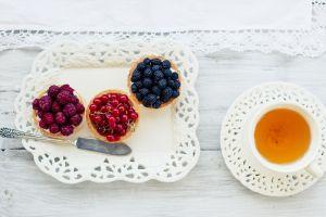 food berries fruit tea lunch still life
