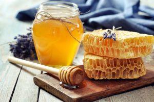 food honeycombs honey spoon flowers honey
