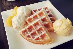 food waffle sweets