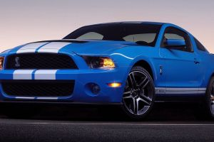 ford shelby gt500 shelby gt500 blue ford mustang car