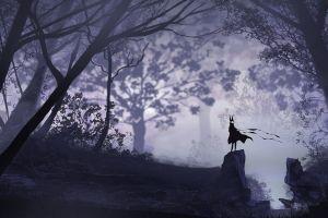forest vector dark