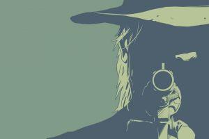 four horsemen of the apocalypse image comics revolver green minimalism death cowboys