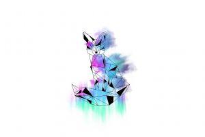 fox watercolor vector