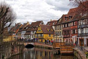 france urban river colmar