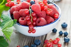 fruit colorful lunch blueberries bowls food raspberries