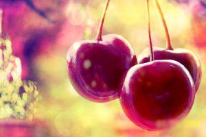 fruit macro plants cherries (food)