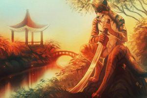 furry sword anthro