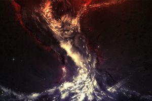 galaxy stars digital art artwork abstract space universe