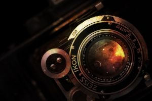 galaxy vintage camera artwork