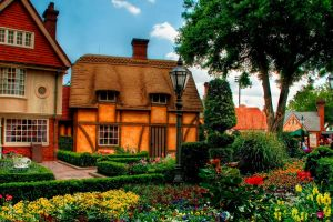 garden building disneyland old building village house