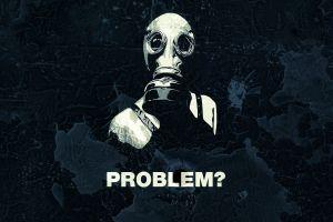 gas masks artwork quote