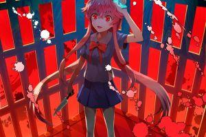 gasai yuno anime yandere mirai nikki schoolgirl anime girls