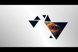 geometry minimalism digital art triangle simple background