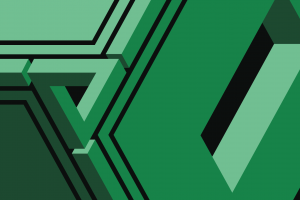 geometry penrose triangle abstract green