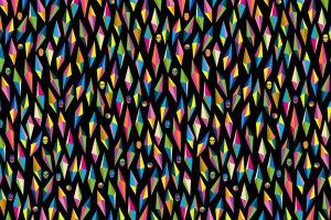 geometry skull circle digital art black background diamonds minimalism colorful