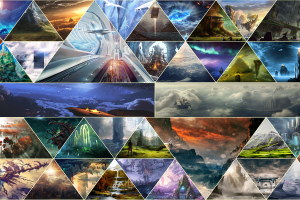 geometry triangle fantasy art mosaic