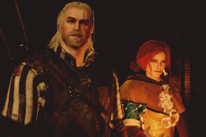 geralt of rivia the witcher 3: wild hunt triss merigold video games