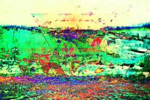 glitch art colorful digital art