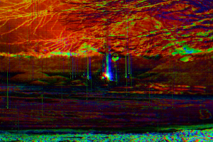 glitch art surreal digital art