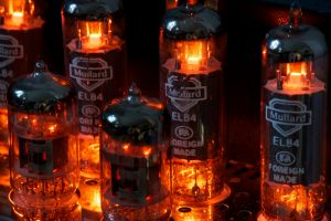 glowing vacuum tubes electricity technology