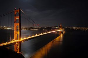 golden gate bridge bridge night