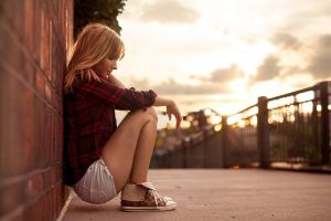 golden hour jean shorts women blonde