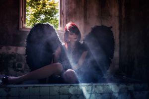 gothic women spooky angel