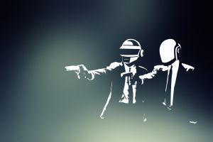 gradient daft punk helmet gun pulp fiction