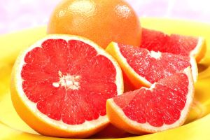 grapefruits fruit food colorful
