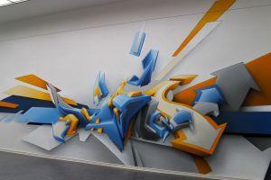 graphic design abstract graffiti daim