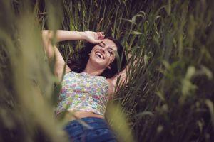 grass aurela skandaj armpits women brunette