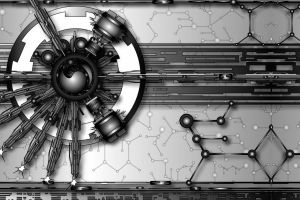gray abstract vector art