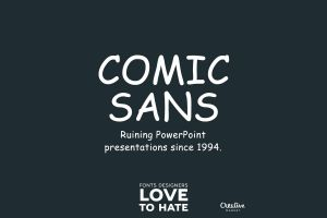 gray background gray humor typography