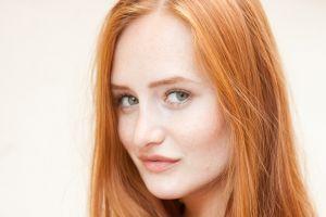 green eyes denisa heaven redhead freckles