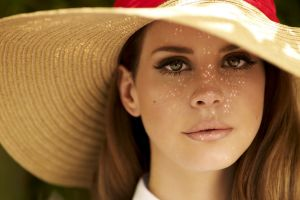 green eyes hat lana del rey women face blonde