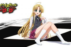 green eyes highschool dxd anime girls long hair blonde argento asia