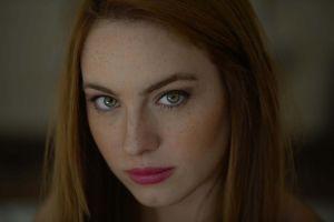 green eyes model women face portrait
